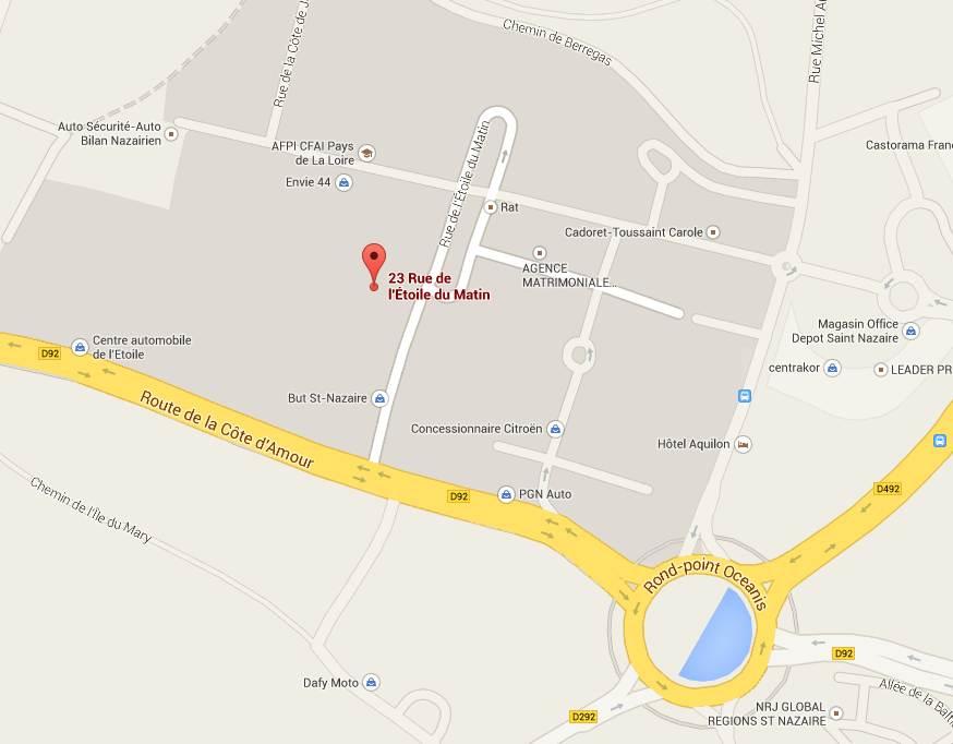Accès A2F Saint-Nazaire